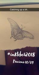 Inktober -10/09 - Precious by Iridescentli
