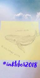 Inktober - 10/12 - Whale by Iridescentli
