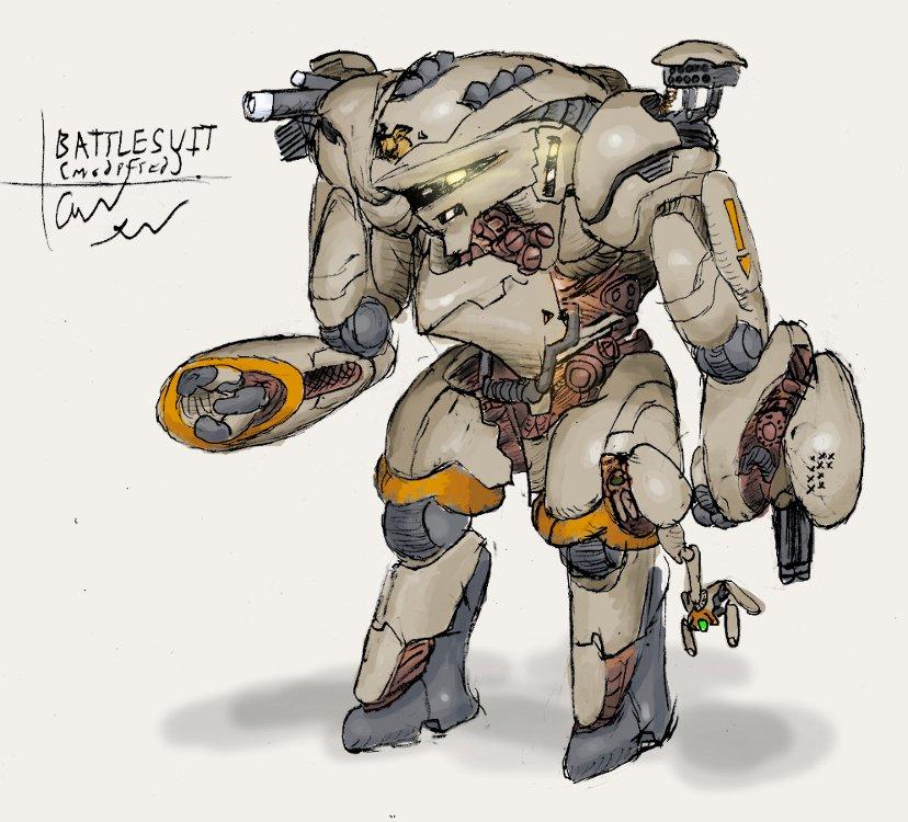 E.P. fanart: Battlesuit by Auger-Affect