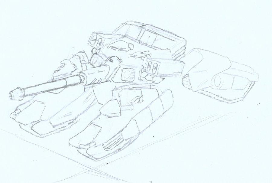 Firebomber Ambulatory Tank WIP by Auger-Affect
