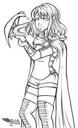 Half Elf Ranger DnD Character by Suiish