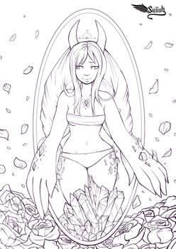 Crystal Monster Girl Lines