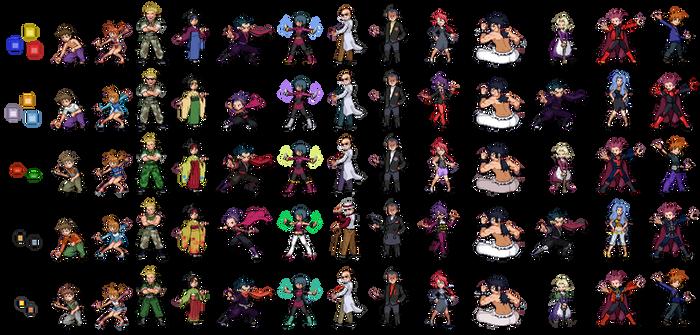 Kanto gym leaders + Elite 4 graphical evolution