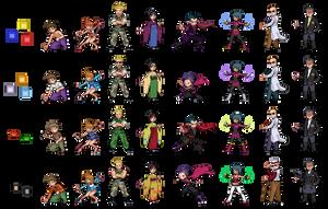 Kanto gym leaders graphical evolution by Drawnamu