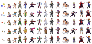 Kanto gym leaders + Elite 4 graphical evolution