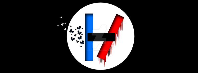 TWENTY ONE PILOTS logo - contrasts by fieldsofdaisies