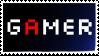 GAMER Stamp by fieldsofdaisies