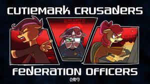 Cutiemark Crusaders Federation Officers Yay! by bwfe