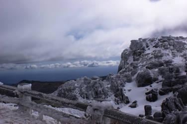 Clouds beyond the ice by jodrucker