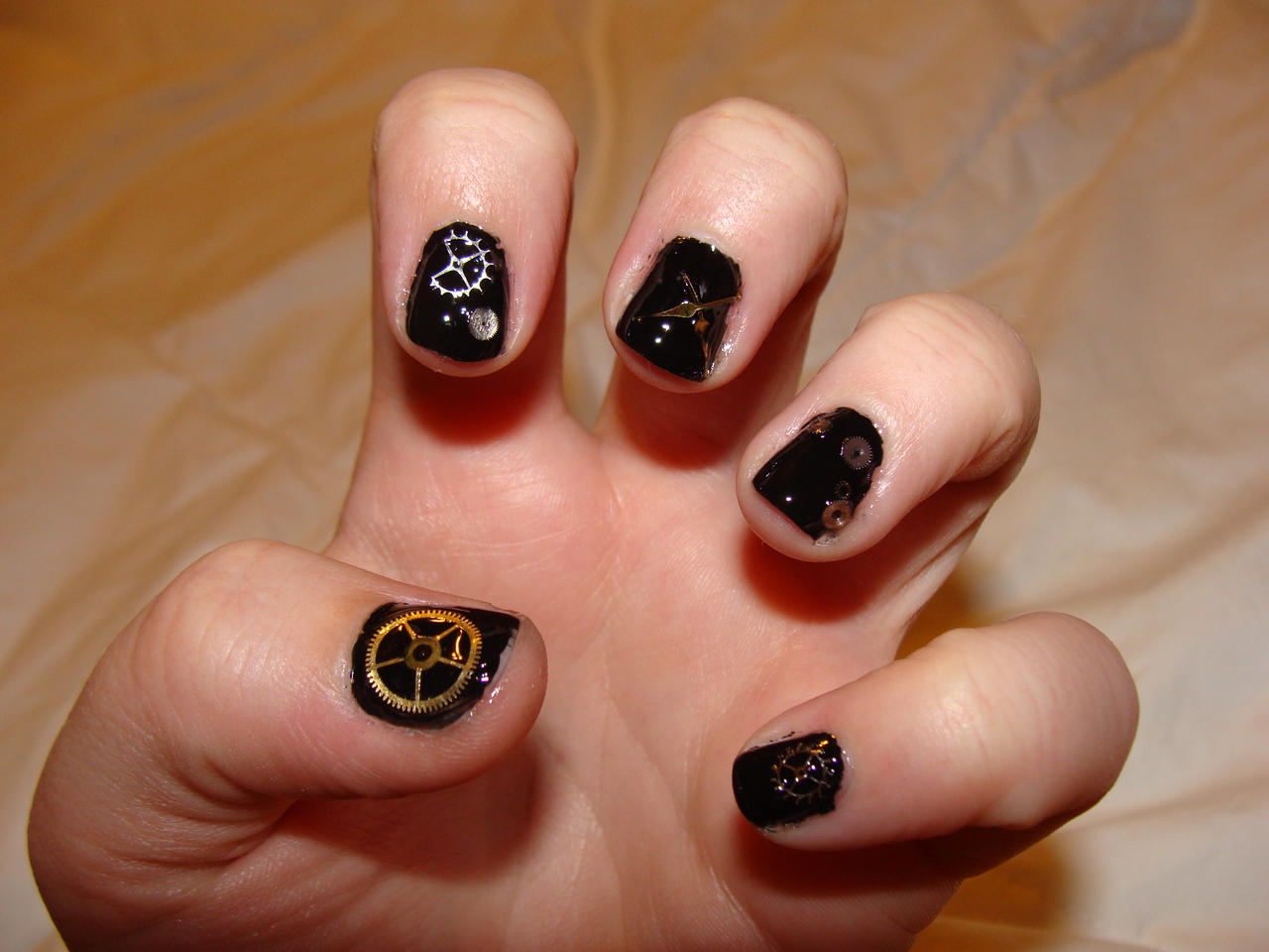 Steampunk nails do over 1 by april r on deviantart steampunk nails do over 1 by april r prinsesfo Images
