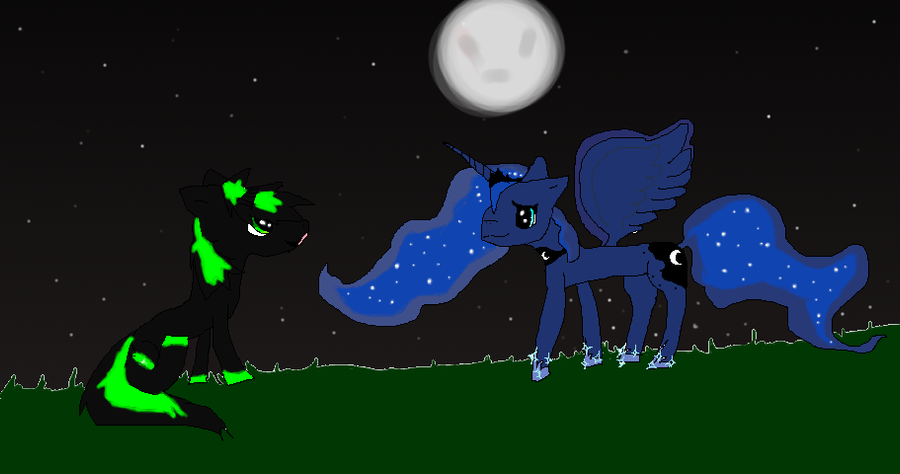 princess luna and neon by crystaleevee7 on deviantart