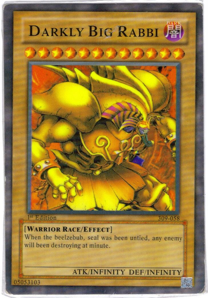 Fake Card - Darkly Big Rabbi
