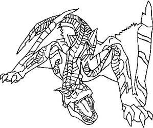 Tigrex Lineart by GaaraxHinata6666