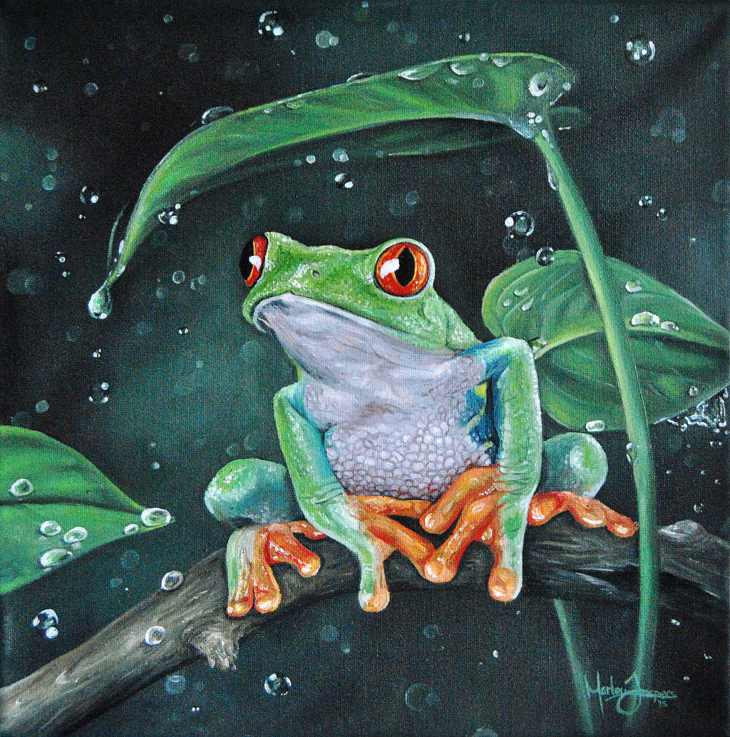 Frog painting by MarlouJ on DeviantArt