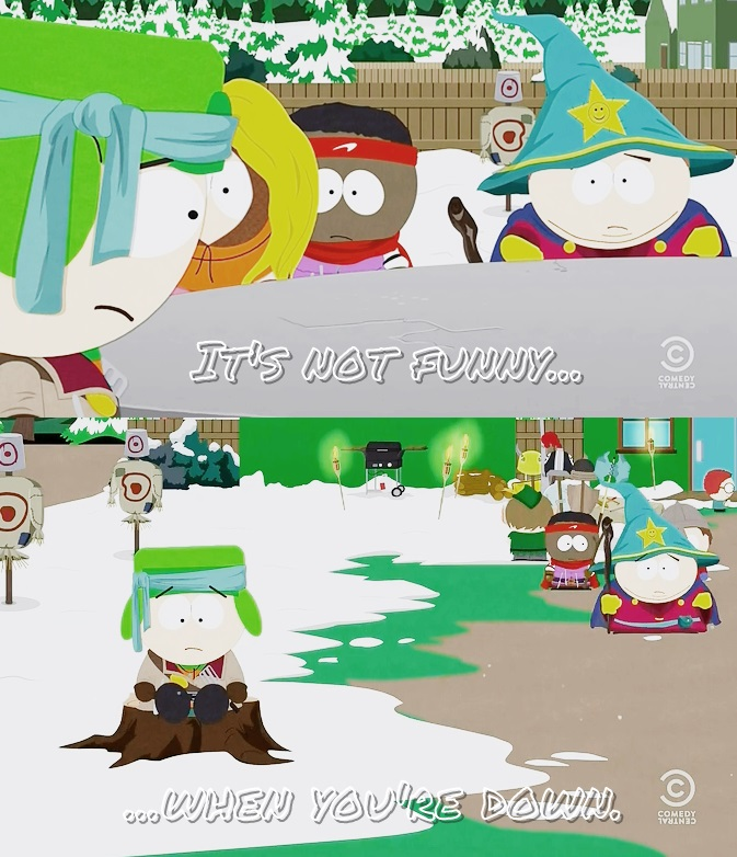 Cartman concerning about Kyle. by IKyman