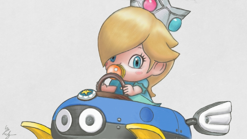 Baby Mario Mario Kart 8: Baby Rosalina, Mario Kart 8 By Lilymilou On DeviantArt