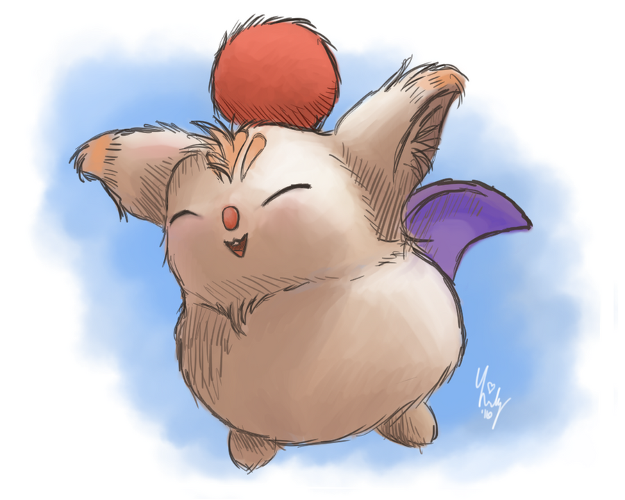 Moogle - Final Fantasy Crystal Chronicles by Lilymilou