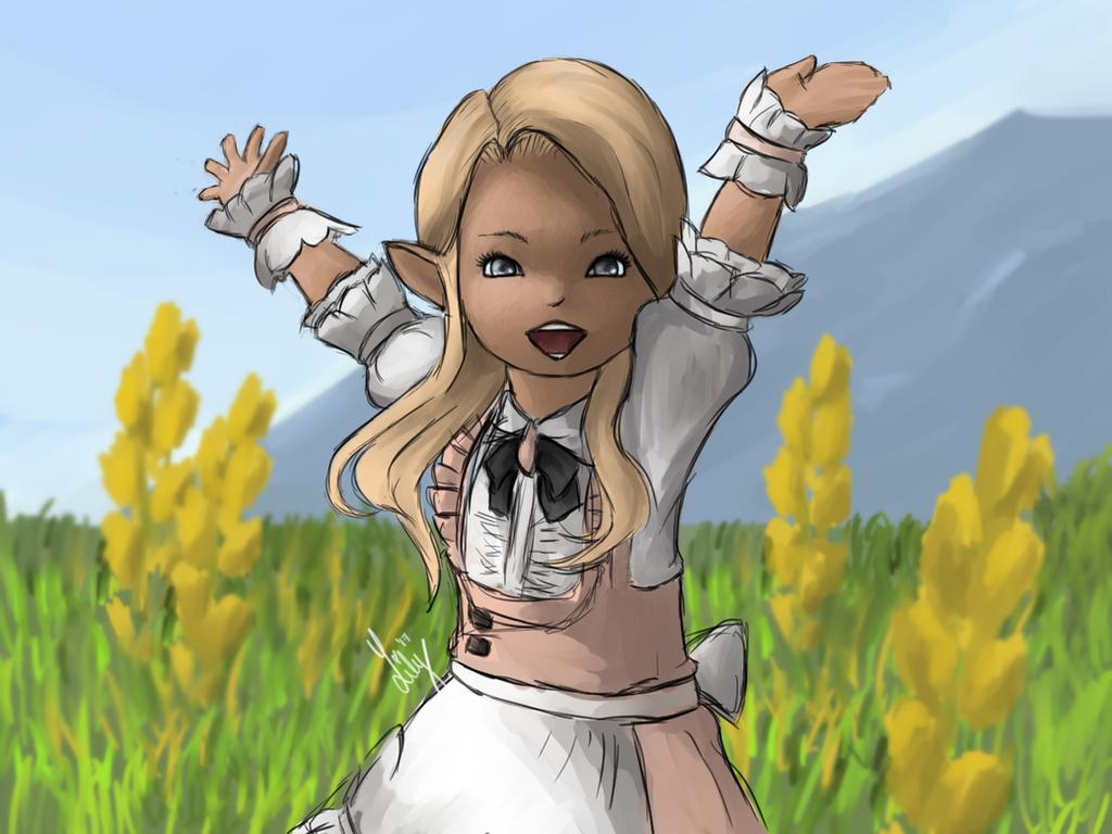 Lalafell (Lilium) - Final Fantasy XIV by Lilymilou