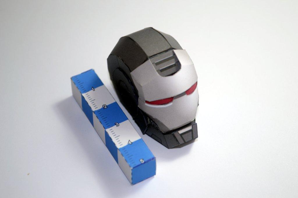 War Machine (head) / paper-replika (WIP) by airasumi