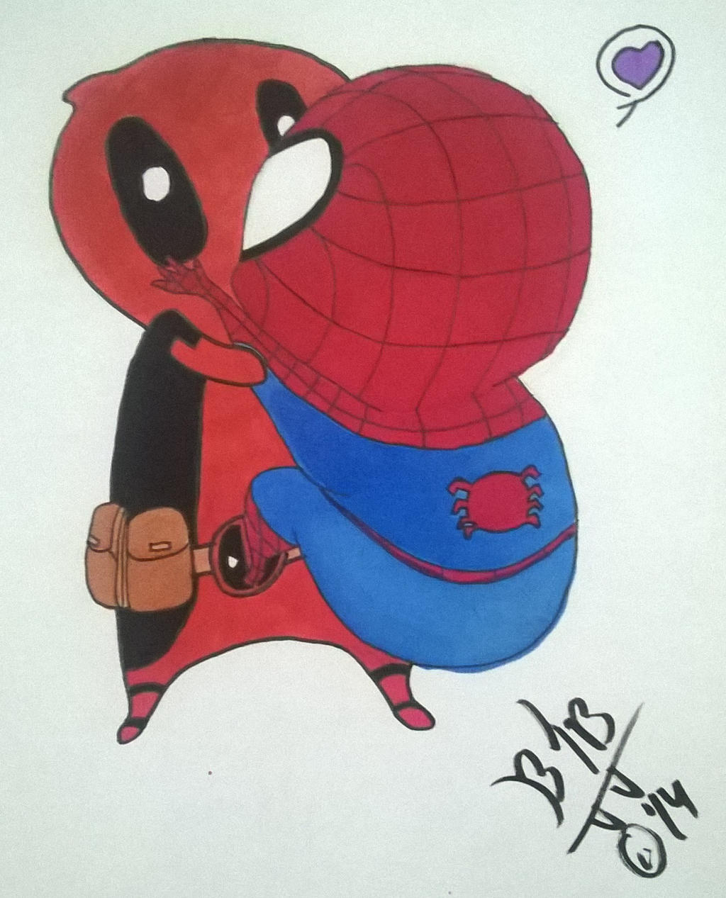 Black spiderman chibi