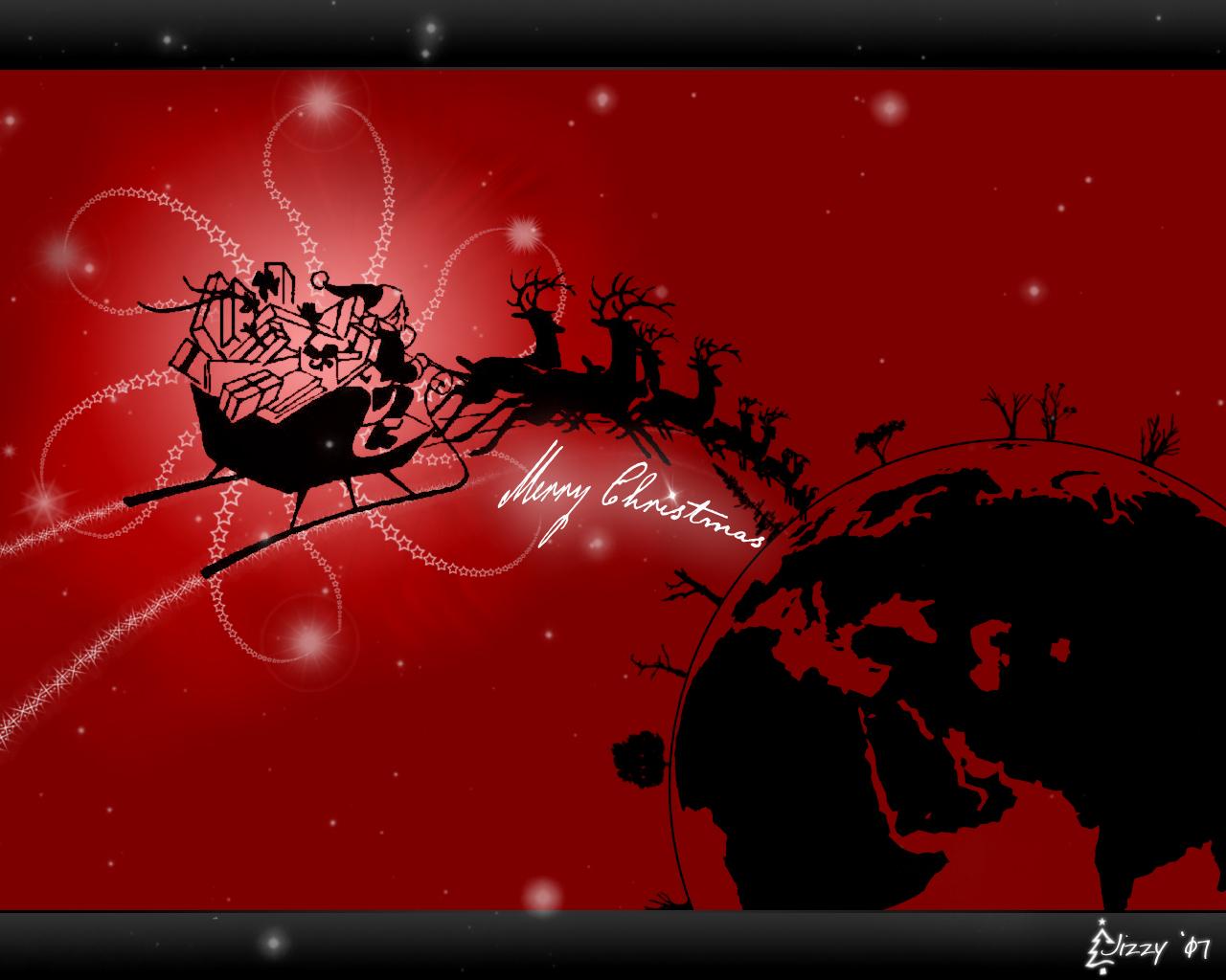 Christmas Wallpaper by baikolio