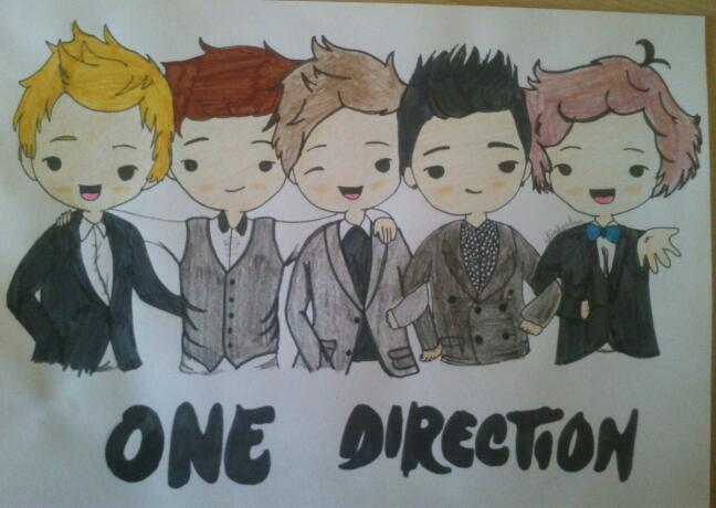 chibi one direction coloring pages - photo#30
