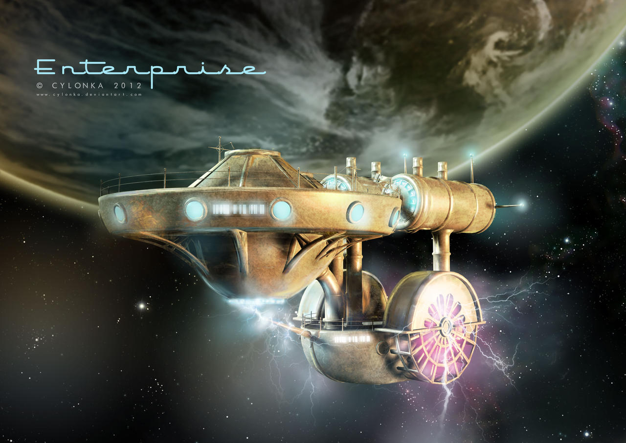 Steam Punk  Enterprise by cylonka