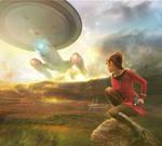 Enterprise beam me up! by cylonka
