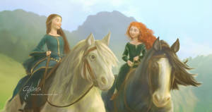 Merida and Elinor. Touch the sky.