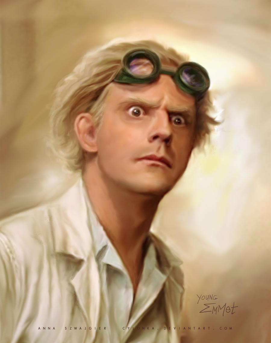 Young Emmet Brown by cylonka on DeviantArt