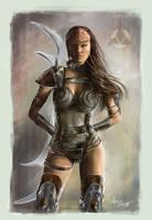Klingon female worrior