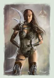 Klingon female worrior by cylonka