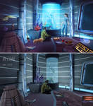 Captain's Quarters - BEFORE and AFTER