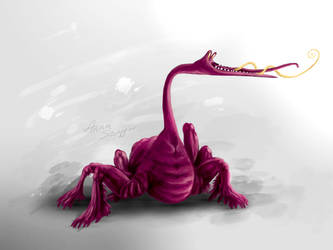 Concept art - animal crawler spider like