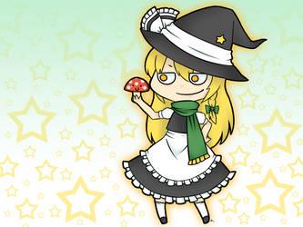 Marisa and Mushroom-San by Suikasen