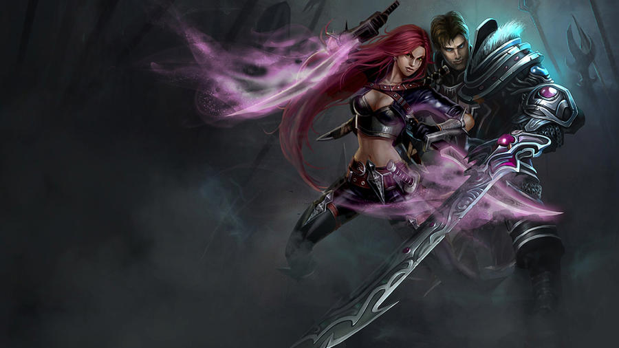 LoL - Garen Katarina splash 2 by ConShinn