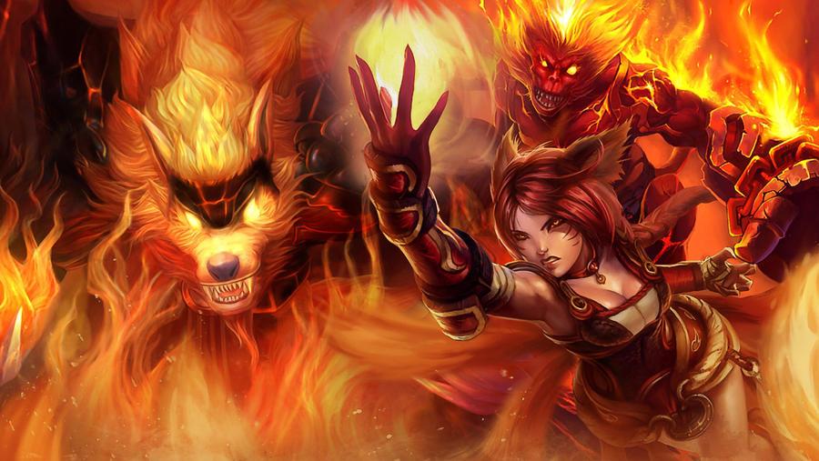 LoL - Fire trio splash by ConShinn