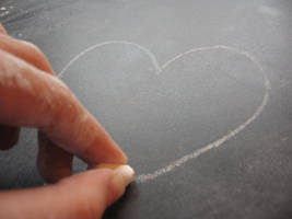 Heart made from Chalk