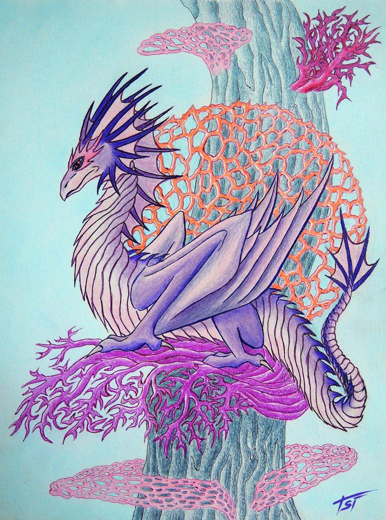 Coral Dragon by Drakonessa-Tsi