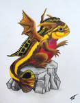 Kribensis Dragon by Drakonessa-Tsi