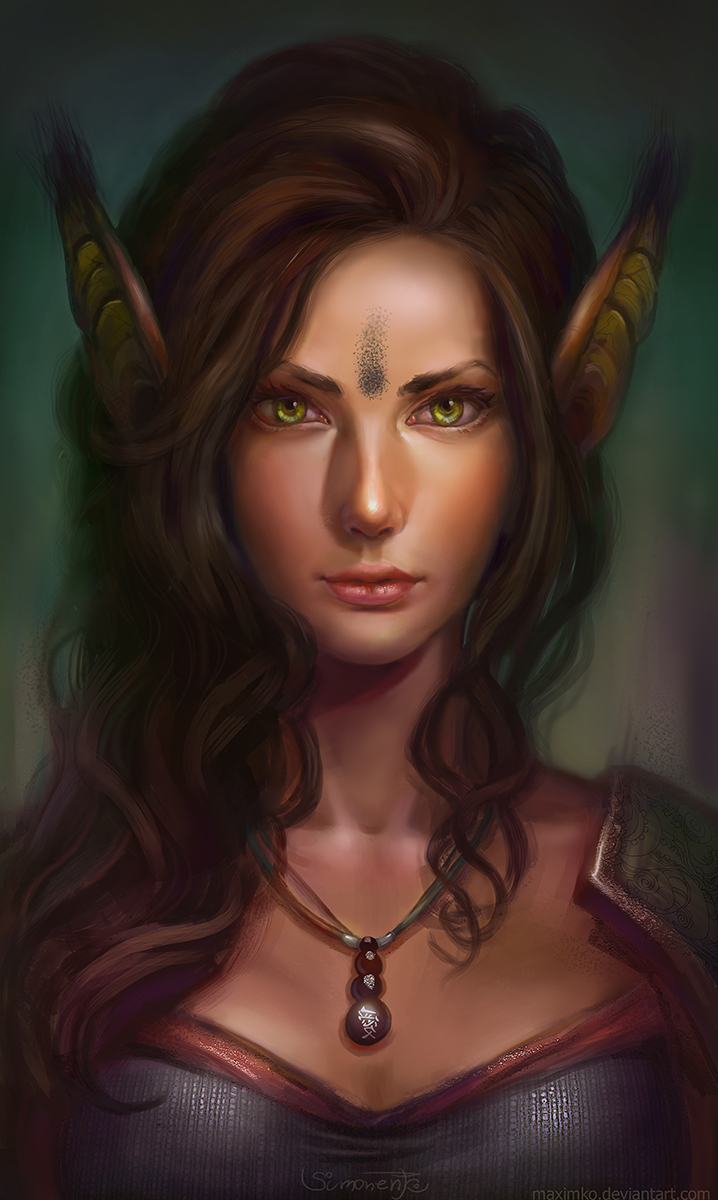 Warrior Elf girl by Maximko