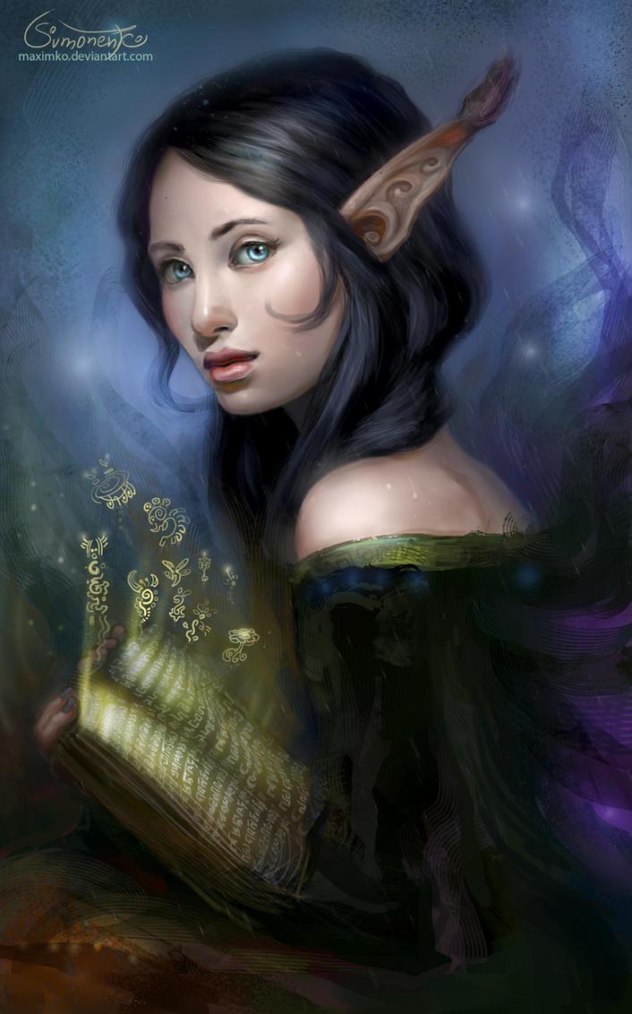 Shy Witch by Maximko