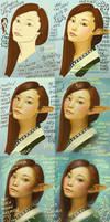 Mulan Elf Girl - Step by Step