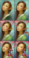Mulan Fanart Process