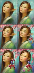 Mulan Fanart Process by Maximko