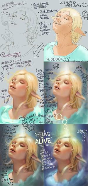 Feeling Alive Elf Girl - WIP