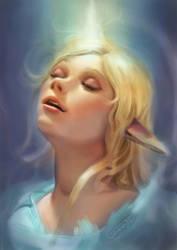 Unicorn Light Elfgirl by Maximko