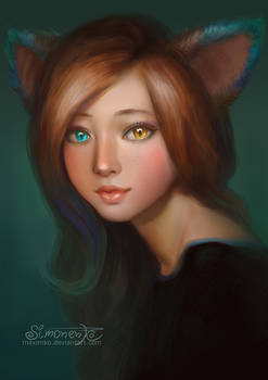 Gaea - Catgirl - Portrait