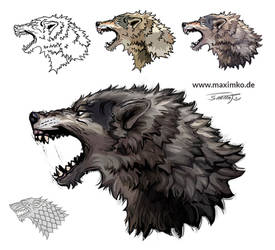 Wolf Tattoo - Game of Thrones