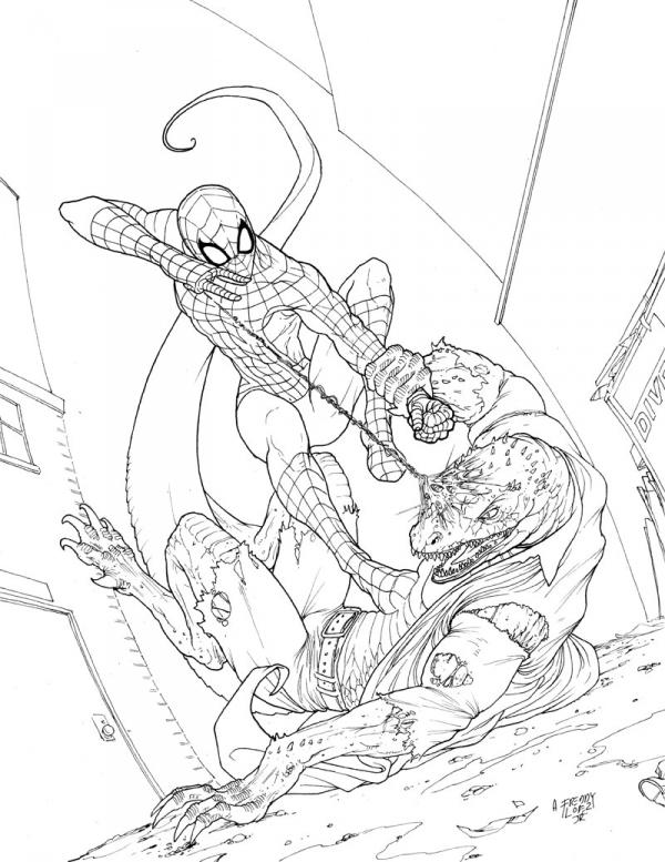 spiderman the lizard coloring pages - spidey vs the lizard by graphicgeek on deviantart